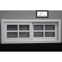 Fabrica Ventana Aluminio Blanco 120x40 Vidrio Repartido