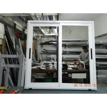 Ventana Aluminio Linea Rotonda 1.50x110 Con Vidrio 4mm