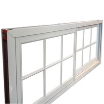 Aberturas Ventana Aluminio Blanco Repartido 1,50x0,60 C/vid
