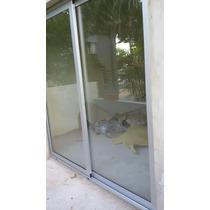 Puerta Ventana De Aluminio Blanco 120 X 2 C/vidrios