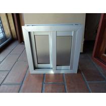 Ventana Corrediza 2 Hoja Aluminio Anodizado Natural 45x45