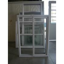 Ventana Aluminio Blanco 0,80 X 1,10 Mts Vidrio Entero