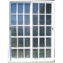 Ventana Aluminio Bco 200x200 Vidrio Repartido