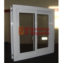 Ventana De Aluminio Blanco Con Vidrio 80x80
