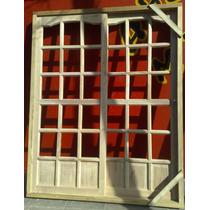 Ventana Balcon En Madera Dura