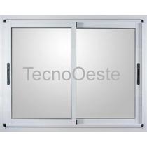 Ventanal Módena Aluminio 240x160 Cm C/vidrios Seguridad 3+3