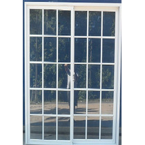 Ventana De Aluminio Blanco De 150x200 Con Vidrio Repartido