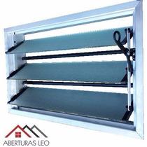 Aireador Ventiluz Aluminio Natural 80x36 C/reja Y Mosquitero