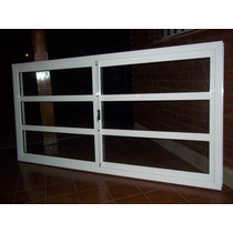 Ventana Aluminio Blanco Vidrio Repartido Horizontal 200x110