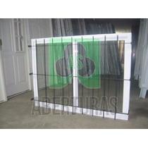 Aberturas: Ventana Alum Blanco Entero 150 X 110 C/vid Y Reja