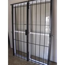 Ventana Balcon Aluminio 240x200 Con Puerta Reja Y Mosquitero