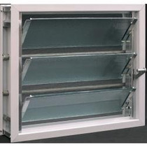 Ventiluz Aluminio Bco 40x36 Vidrio Reja Mosquitero Completo