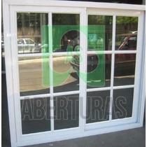 Ventana Aluminio Blanco Repartido 1,20 X 1,10 C/vidrio