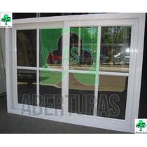Ventana Aluminio Blanco Repartido 1,20 X 0,90 C/vidrio