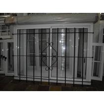 Ventana Aluminio Ve C/ Reja Y Persiana 150x110