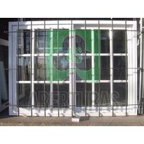 Aberturas: Ventana Aluminio Blan Rep 150 X 110 C/vid Y Reja