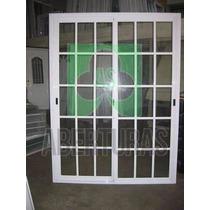 Ventana Aluminio Blanco Repartido 200 X 150 C/vidrio Puertas
