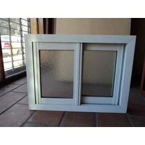 Abertura Ventana Corrediza 2 Hojas Aluminio Blanco 59x45