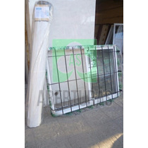 Ventana Aluminio Blanco Ent 200 X 110 C/guia, Reja Y Cortina