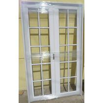 Puerta Balcon Abrir Aluminio Reforzado V/repartido 150x200