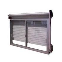 Ventana Aluminio Blanca 150*150 Con Vidrio, Guía Y Persiana