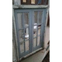 Antigua Ventana D 2 Hojas D Abrir Con Vidrio Repartido Guern