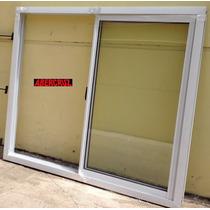 Ventana Aluminio Blanco Con Vidrio Entero Envio 150x110 Va12