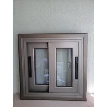 Ventana Corrediza Aluminio Anodizado Peltre 50x50