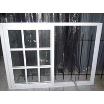Ventana Aluminio Blanco 150x110 Vidrio Rapartido, Corrediza