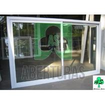 Ventana Aluminio Blanco Entero 1,80 X 1,10 C/vidrio