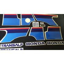 Calcos Para Honda Xl 600 V Transalp Kit Completo Moto Blanca