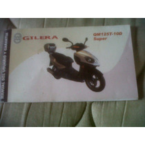 Gilera Qm125t Manual Del Usuario Original !!!!!!!!