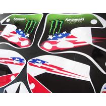 Calcos Kawasaki Kx125-250 99-02 Competicion Kit Completo