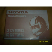 Manual Original Honda Cg 125 Titan Ks Y Es
