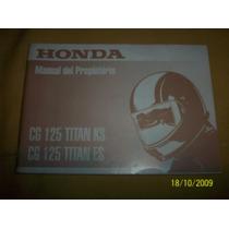 Manual Original Honda Cg 125 Titan Ks Y Es