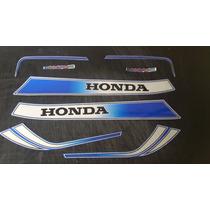 Calcos Honda Cb 900f Boldor Kit Completo Moto Azul