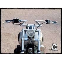 Manubrio Z Cromado Moto Chopper Custom Harley