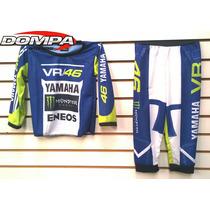 Pijama Niños Conjunto Motocross Valentino Rossi Dompa Motos