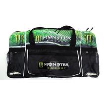Bolso Enduro Motocross Amplio Monster Negro Con Verde Gama