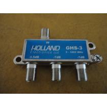 Divisor,derivador De Señal Cable,splitter Holland 3 Vias