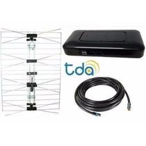 Kit Completo Tda Decodificador + Antena Uhf Plana Y Coaxil