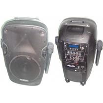 Bafle Karaoke Potenciado C/bateria Gbr 1090, 12 Sin Interes