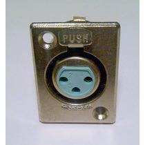Conector Canon Chasis K2f2 Ficha Hembra Xlr Con Traba Metal