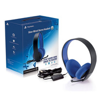 Auriculares 7.1 Silver Wired Headset Ps4 Ps3 - Sony Original