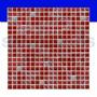 Malla De Vidrio Piú Modelo Crac Rojo Revestimientos Mosaicos