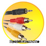 Cable Rca Salida A Tv O Lcd Video Para Mp5 Pmp 3,5 Mm Out In