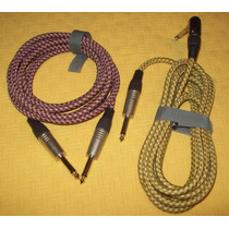 Cable Mallado X 2 Guitarra Bajo Piano Oportunidad !!!