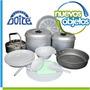 Marmita Doite Para 4 Personas Set De Cocina Camping C/bolso