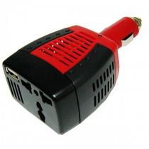 Inversor Cargador 12v A 220v 75w Auto Ideal Celular Netbook