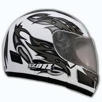 Casco Halcon Azor Integral Con Grafica. Moto Delta Tigre